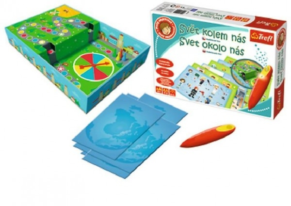 Malý objevitel Svět kolem nás + kouzelná tužka edukační společenská hra v krabici 33x