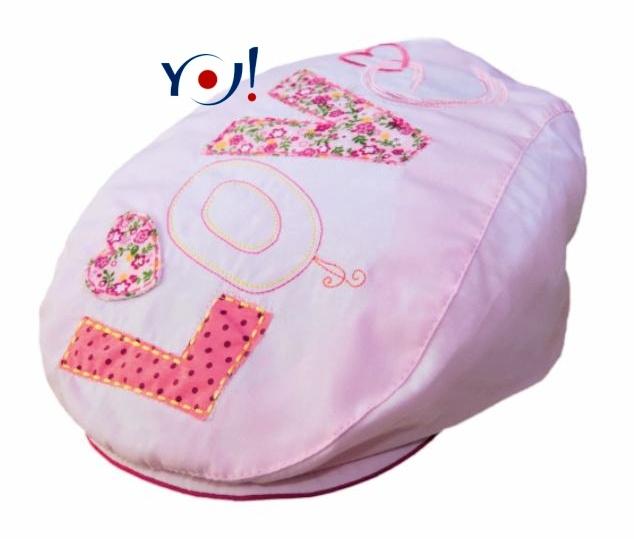 Bavlněná bekovka/kšiltovka YO! - LOVE - růžová