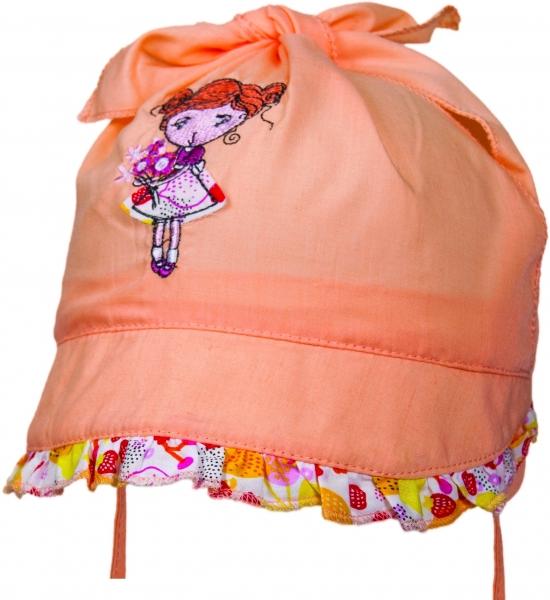 YO ! Bavlněný šátek - HOLČIČKA - oranžová