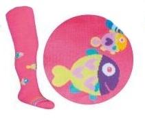 YO ! Bavlněné punčocháčky Rybičky - tm. růžová
