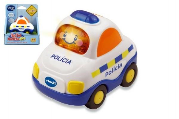 Autíčko Tut Tut Policie česky mluvící plast 8cm na baterie se zvukem se světlem v kra