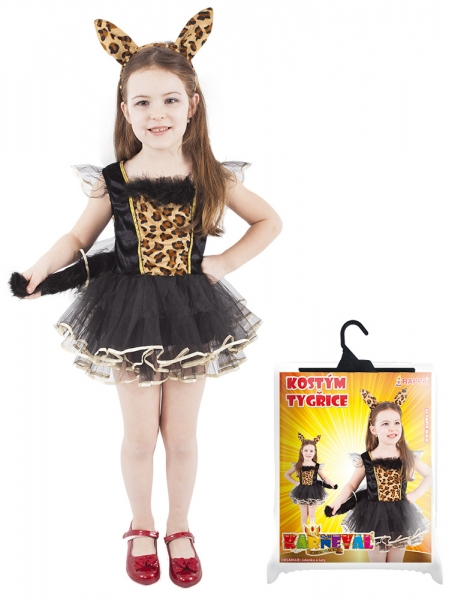 Dětský kostým leopardice (S)