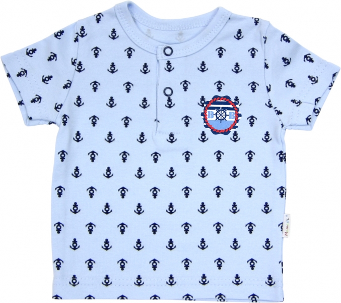 Polo tričko krátký rukáv Mamatti - Delfín kotvička, Velikost: 74 (6-9m)