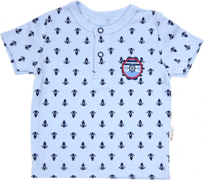 Polo tričko krátký rukáv Mamatti - Delfín kotvička, Velikost: 92 (18-24m)