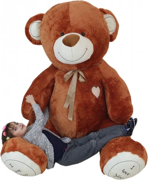 XXL MAXI Plyšový Medvěd OBR - Baby Nellys - hnědý - 250 cm, K19