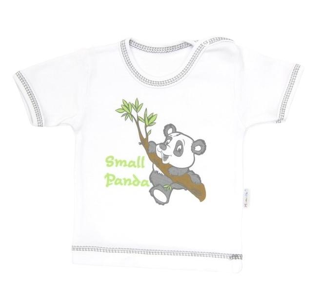 Tričko/košilka krátký rukáv Mamatti - Panda, Velikost: 68 (4-6m)