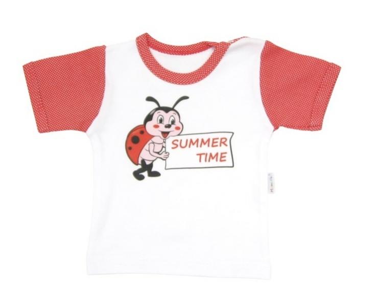Tričko/košilka krátký rukáv Mamatti - Brouček v létě, Velikost: 68 (4-6m)
