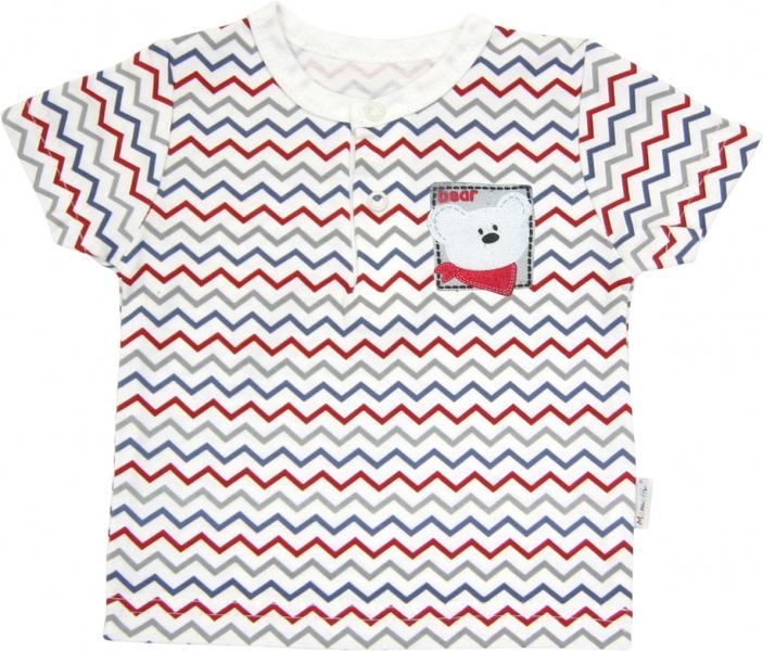 Polo tričko krátký rukáv Mamatti - Zvířátka zigzag, Velikost: 86 (12-18m)