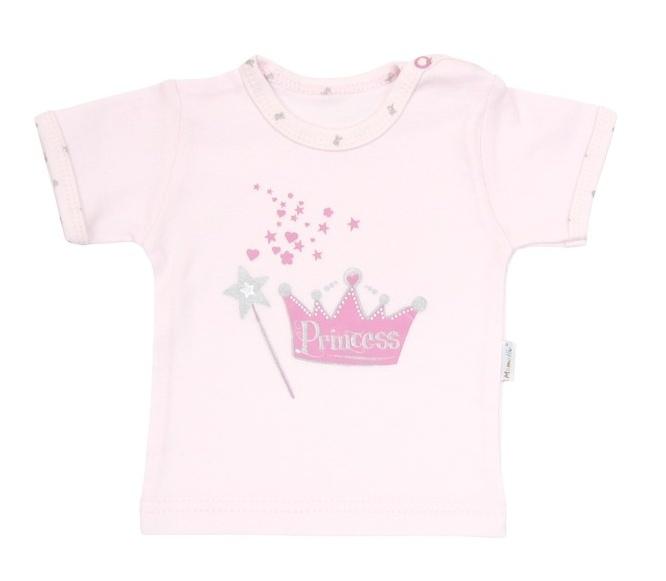 Tričko/košilka krátký rukáv Mamatti - Princezna, Velikost: 74 (6-9m)