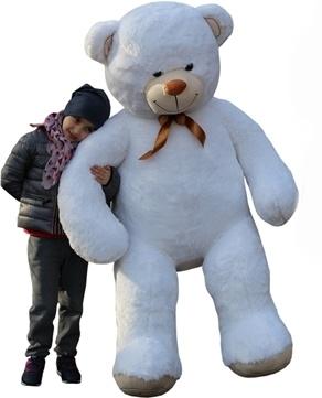 Plyšový Medvěd XXL Baby Nellys 180cm - bílý, K19