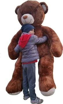 Plyšový Medvěd XXL Baby Nellys 180cm - hnědý, K19