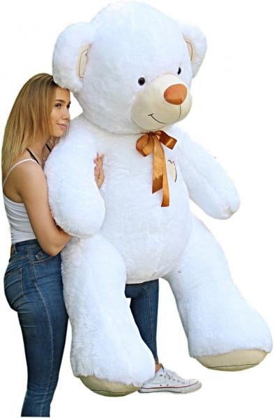 Baby Nellys Obr plyšový Medvěd - bílý - 190 cm