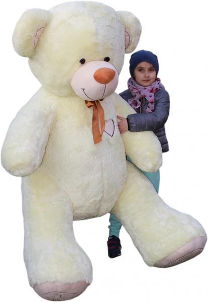 Baby Nellys XXL MAXI Plyšový Medvěd - smetanový - 190 cm, K19