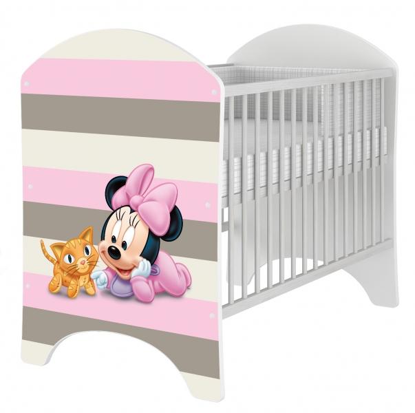BabyBoo Dětská postýlka Disney Baby Minnie 120x60cm, D19