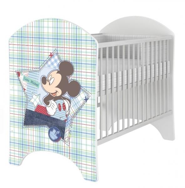 BabyBoo Dětská postýlka Disney Mickey 120x60cm, D19