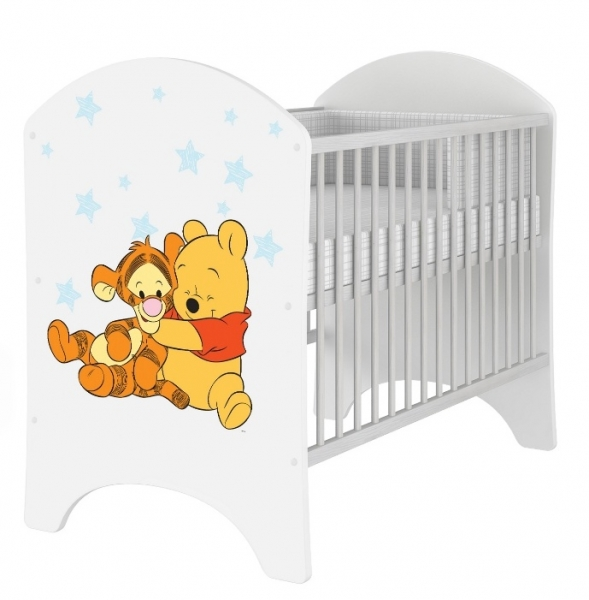 BabyBoo Dětská postýlka Disney Medvídek PÚ Baby 120x60cm, D19