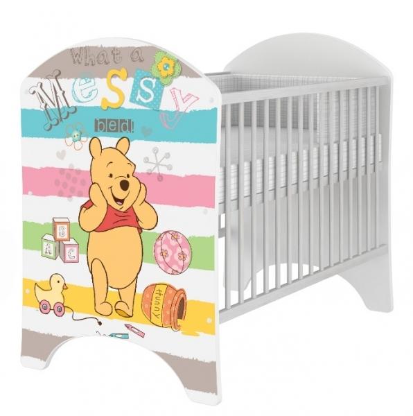 BabyBoo Dětská postýlka Disney Medvídek PÚ a Prasátko 120x60cm
