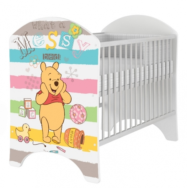 BabyBoo Dětská postýlka Disney Medvídek PÚ a Prasátko 120x60cm, D19