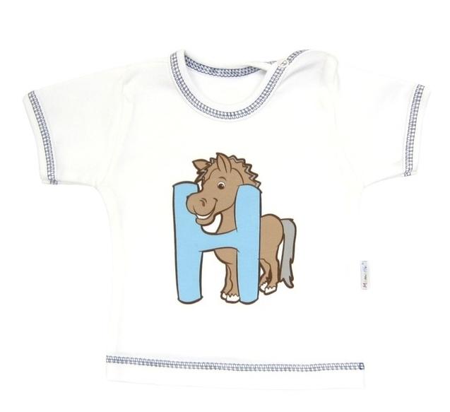 Tričko/košilka krátký rukáv Mamatti - Zvířátka, Velikost: 80 (9-12m)