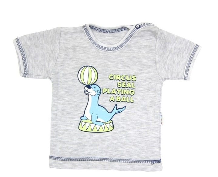 Tričko/košilka krátký rukáv Mamatti - Tuleň, Velikost: 74 (6-9m)
