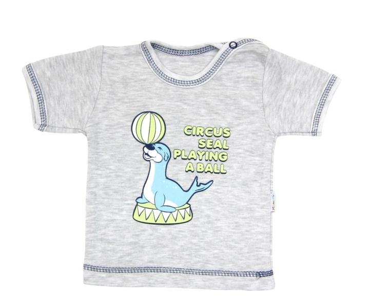 Tričko/košilka krátký rukáv Mamatti - Tuleň, Velikost: 80 (9-12m)