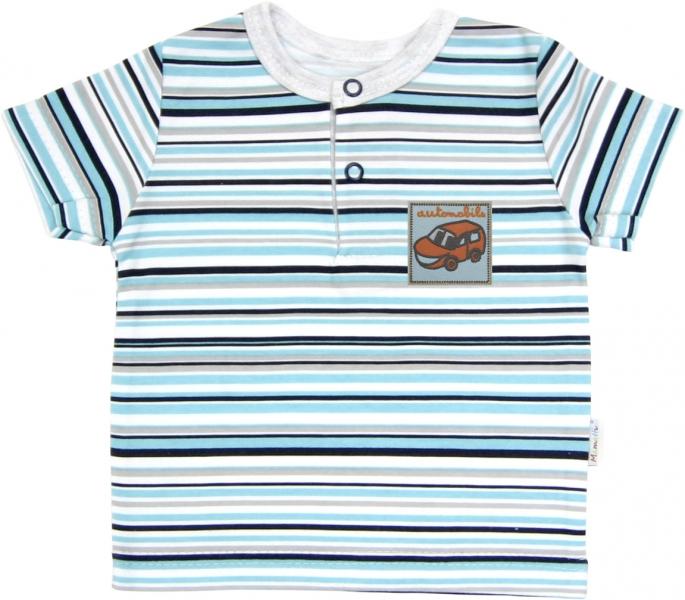 Polo tričko krátký rukáv Mamatti - Tuleň proužek, Velikost: 68 (4-6m)