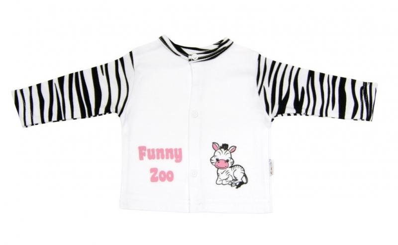 Bavlněná košilka Mamatti - Zebra v ZOO, Velikost: 80 (9-12m)