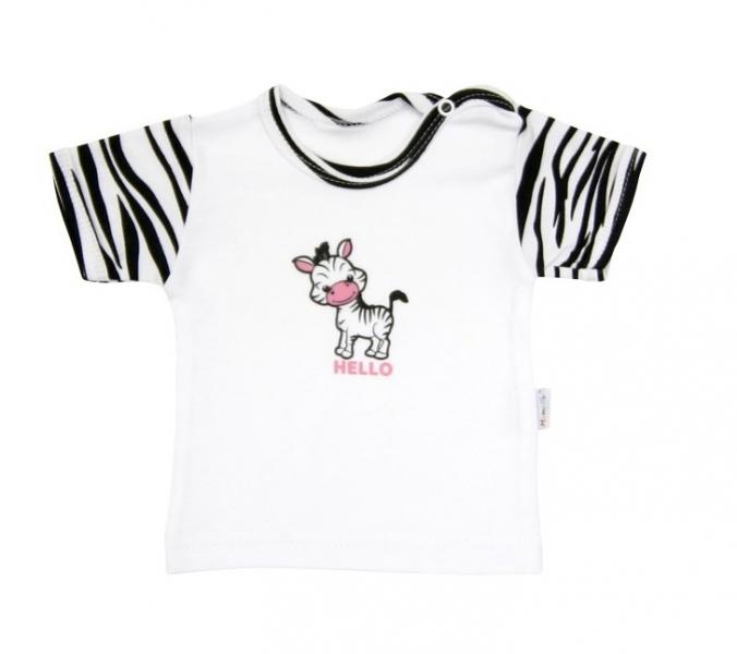 Tričko/košilka krátký rukáv Mamatti - Zebra v ZOO, Velikost: 68 (4-6m)