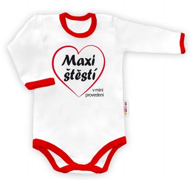 Baby Nellys Body dlouhý rukáv vel. 68, Maxi štěstível. 68 (4-6m)