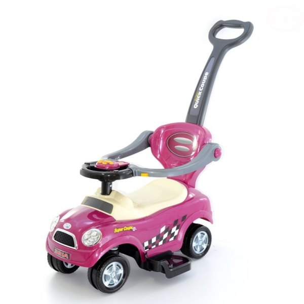 Jezdítko,odstrkovadlo, odrážedlo 3v1 AUTÍČKO - růžové