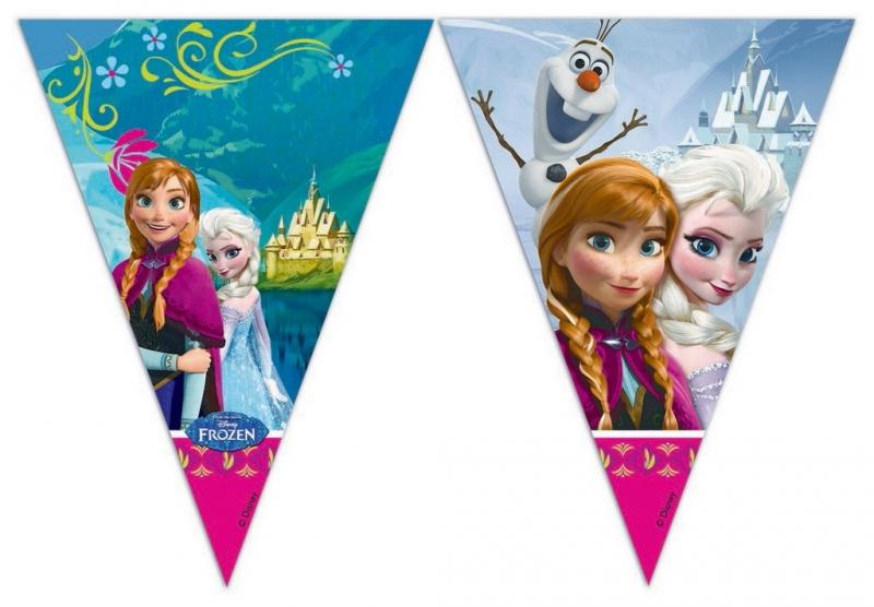 Girlanda vlajky Frozen - Ledové království 9 ks