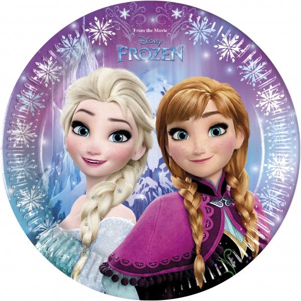 Papírový talíř 23 cm Frozen - Ledové království 8 ks