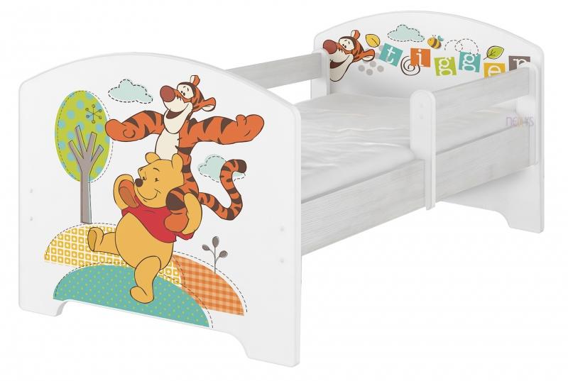 BabyBoo Dětská postel Disney, 160x80 + pěnová matrace zdarma - Medvídek PÚ a tygřík , D19