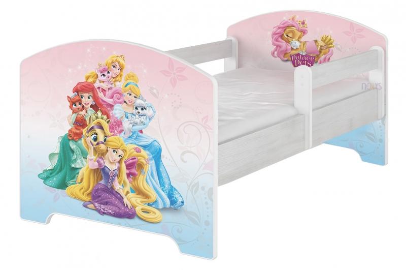 BabyBoo Dětská postel Disney, 160x80 + pěnová matrace zdarma - Palace Pets, D19