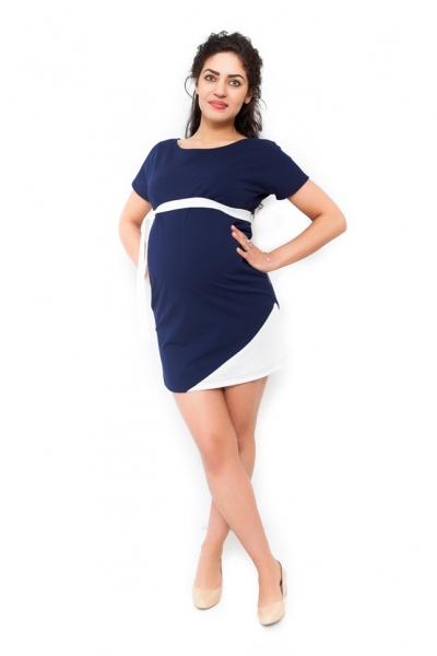 Be MaaMaa Těhotenské šaty Ines - granát, Velikost: S (36)
