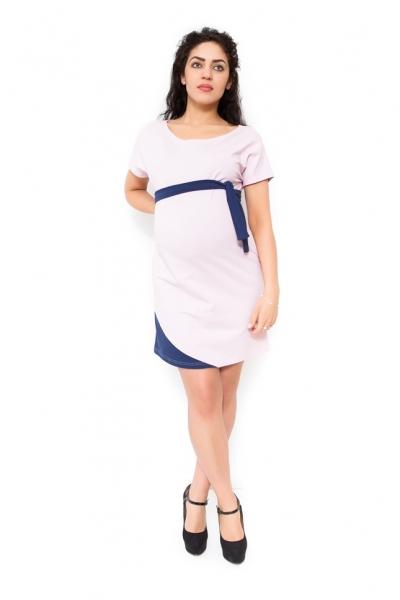 Be MaaMaa Těhotenské šaty Ines - světle růžové