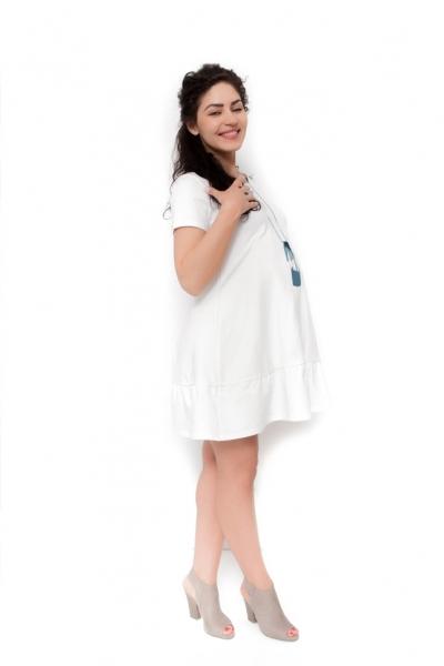 Be MaaMaa Těhotenské šaty Adela - ecru