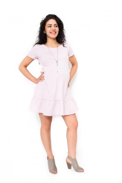 Be MaaMaa Těhotenské šaty Adela - světle růžová