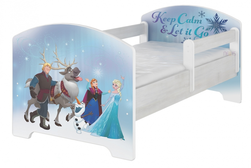 Dětská postel Disney, 160x80 + pěnová matrace zdarma - Frozen