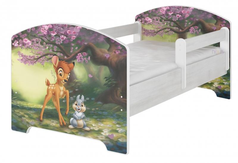 BabyBoo Dětská postel Disney, 160x80 + pěnová matrace zdarma - BAMBI, D19