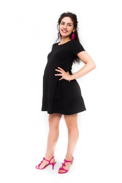 Be MaaMaa Těhotenské šaty Adela - černá