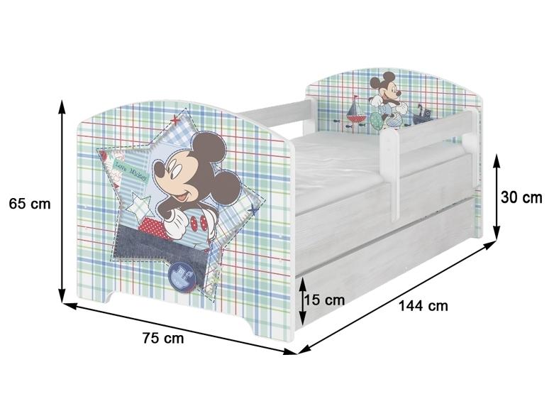 BabyBoo Dětská postel Disney - Medvídek PÚ a tygřík , D19