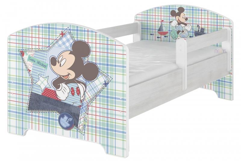 BabyBoo Dětská postel Disney, 160x80 + pěnová matrace zdarma - Mickey Mouse, D19