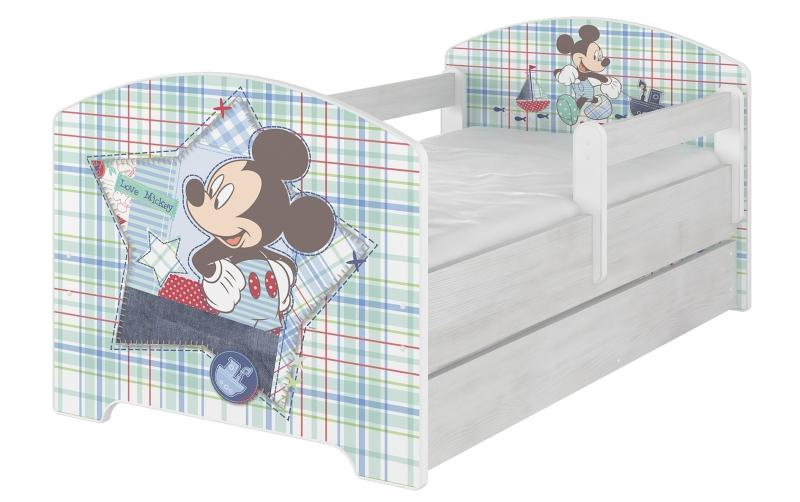 Dětská postel Disney s šuplíkem , 160x80 + pěnová matrace zdarma - Mickey Mouse, D19