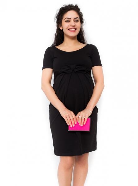 Be MaaMaa Těhotenské šaty Vivian - černá