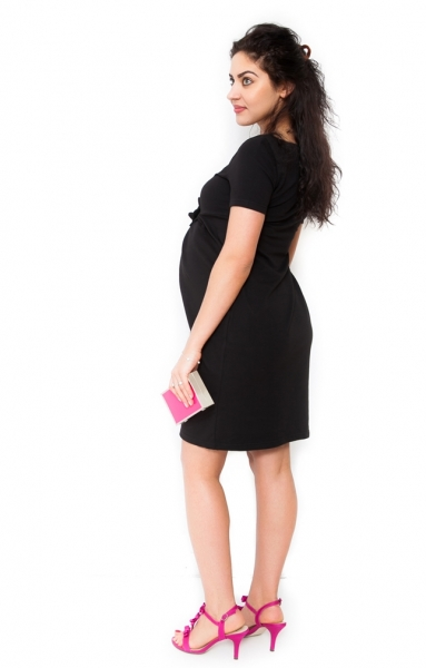 Be MaaMaa Těhotenské šaty Vivian - černá, vel. XL