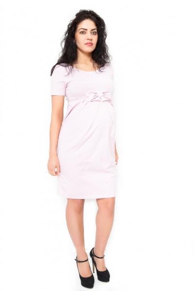 Be MaaMaa Těhotenské šaty Vivian - světle růžová, vel. XL
