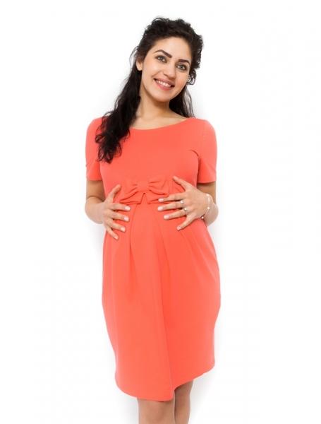 Be MaaMaa Těhotenské šaty Vivian - korálová