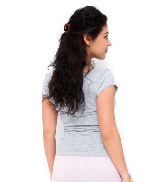 Be MaaMaa Těhotenské triko/halenka Celina - světle šedá