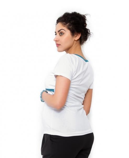 Be MaaMaa Těhotenské a kojící triko Aldona - bílá